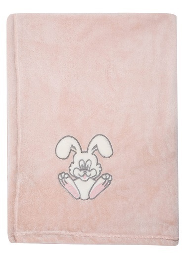 Mollia Soft Touch Aplikeli Bebek Battaniye Pembe